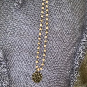 Free People Jewelry - Old coin beaded necklace